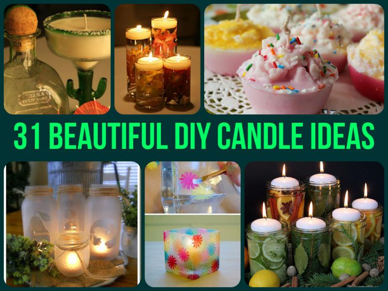 Recipes projects more 31 beautiful diy candle ideas for Candle craft ideas
