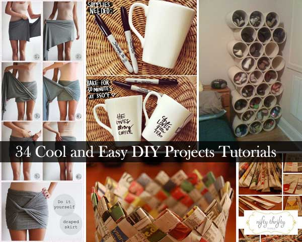 34 Insanely Cool and Easy DIY Projects