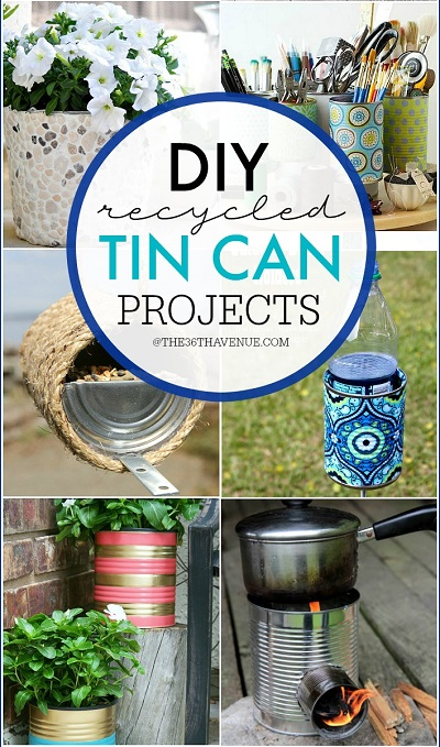 Recipes projects more recycling for Diy tin can projects